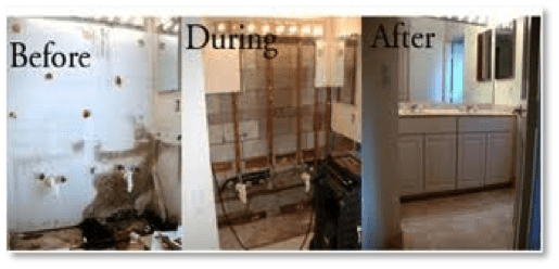 Before and after mold removal in New York, NY